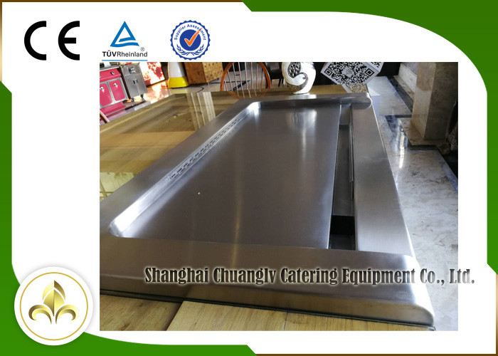 Stainless Steel and Special Alloy Steel Electric Teppanyaki Grill For Home